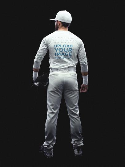 Baseball Uniform Designer - Full Body Back of a Man a15991