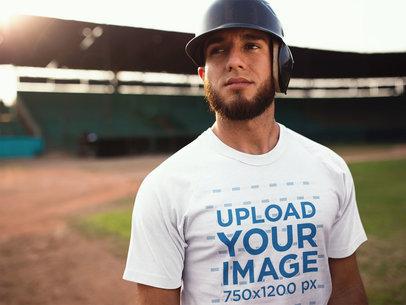 Baseball Uniform Designer - Young Man Inside Empty Field a16341