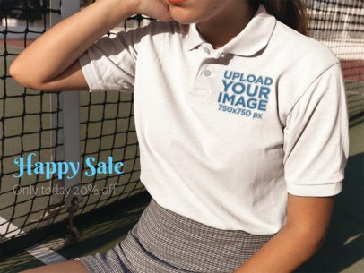 Facebook Ad - Closeup of a Polo Shirt Being Worn by a Girl a15717