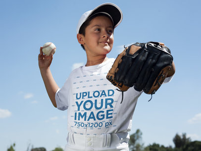 Baseball Uniform Designer - Kid Throwing the Ball a16362