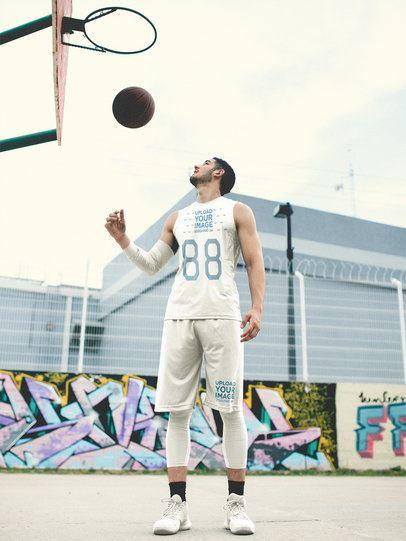 Basketball Jersey Maker - Man Below the Hoop a16459