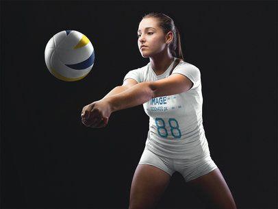 Volleyball Jersey Maker - Girl Receiving the Ball a16471