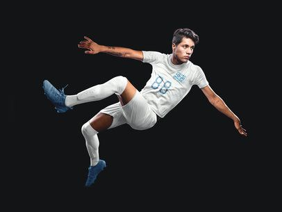 Custom Soccer Jerseys - Man Doing a Scissor Kick a16488