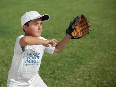 Baseball Uniform Designer - Kid About to Catch the Ball a16383