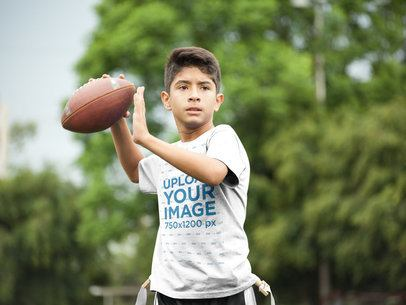 Custom Football Jerseys - Kid Throwing the Ball a16477