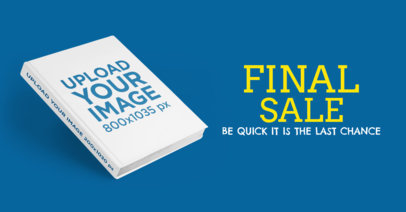 eBook Ads - Angled Book on a Flat Color Surface a16555