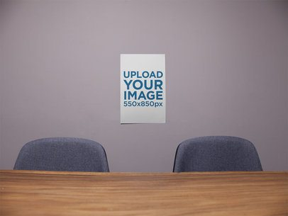 Poster Mockup on a Meetings Room Wall a16303