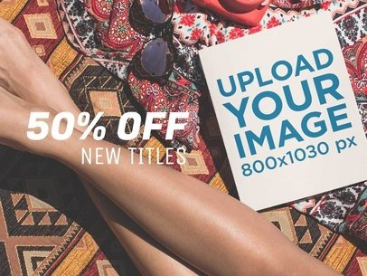 eBook Ads - Book Lying Near a Girl at the Beach a16571
