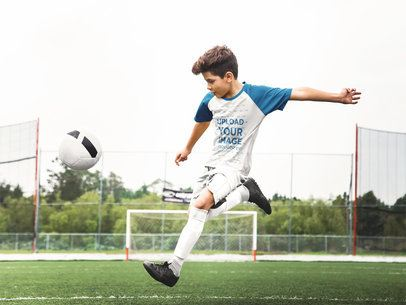 Custom Soccer Jerseys - Boy Shooting a Penalty a16608