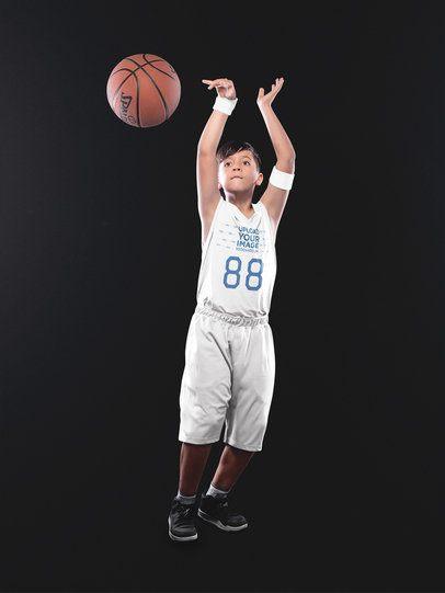 Basketball Jersey Maker - Boy Throwing the Ball a16620