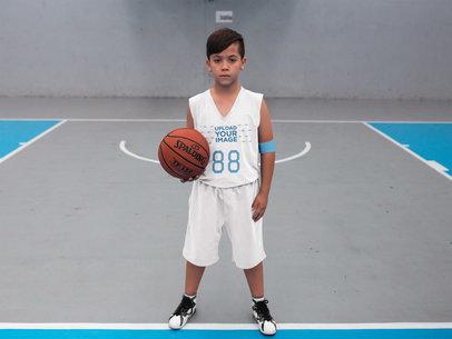 Basketball Jersey Maker - Boy Looking at the Camera a16624