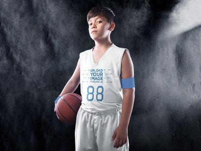 Basketball Jersey Maker - Portrait of a Boy at the Studio a16634