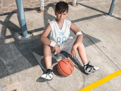 Basketball Jersey Maker - Tired Teen Resting a16628