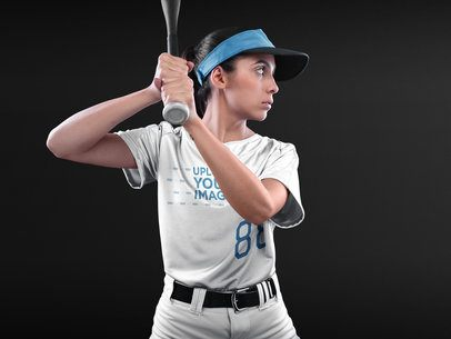 Custom Softball Jerseys - Girl About to Hit the Ball a16694