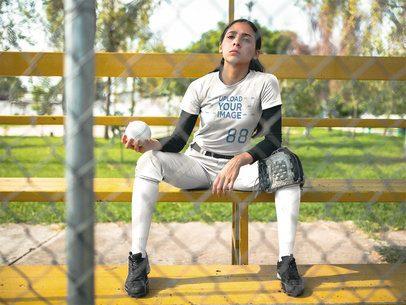 Custom Softball Jerseys - Girl on the Bench a16722