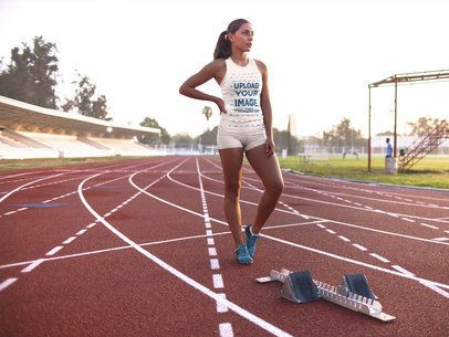 Track and Field Uniforms - Woman on Track a16727
