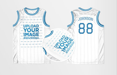 best loved 52b82 2a545 Basketball Jersey Maker - Jersey Front and Back Against Solid Background  a16739