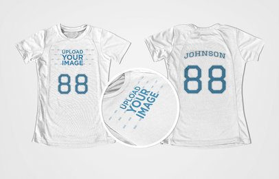 Volleyball Jersey Maker - Jersey Front and Back Against Solid Background a16743
