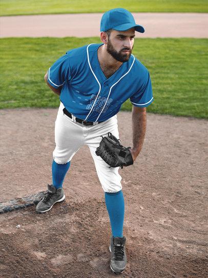 Baseball Uniform Builder - Man Pitching a16771