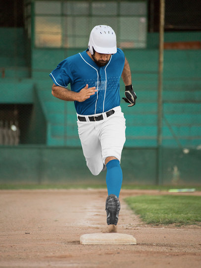 Baseball Uniform Builder - Man Running at the Field a16772