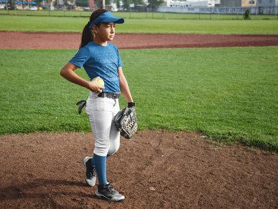 Custom Softball Jerseys - Girl at the Field a16810