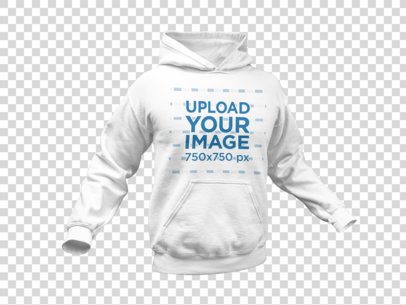 Mockup of a Man's Pullover Hoodie Transparent Background a10659