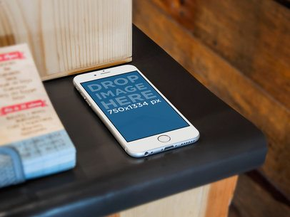 White iPhone 6 Small Business Counter Bar