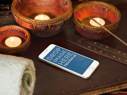 iPhone 6 With Candles