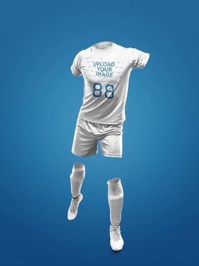 Custom Soccer Jerseys - Invisible Model Kicking a17269