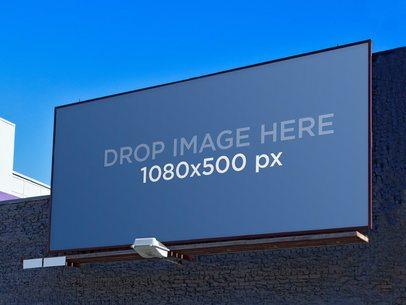 Billboard O A Blue Wall