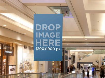 Hanging Ad On A Mall