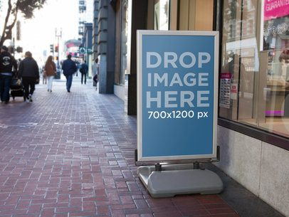 Banner Ad Outside Of Store