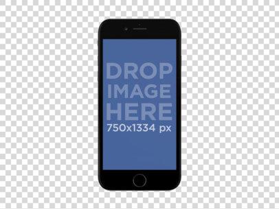Black iPhone 6 Frontal Shot