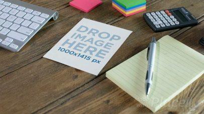 Closeup Video of a Flyer on a Desk 13842