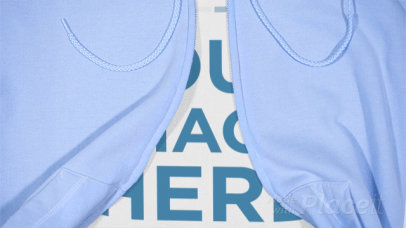 Closeup of a T-Shirt Stop Motion with a Hoodie on Top Zipping Up and Down a13270