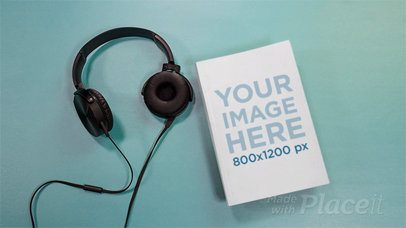 Audiobook Stop Motion Of A Book Using Headphones a13672