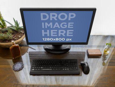 Desktop Pc On Home Desk