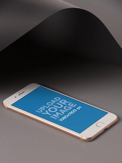 iPhone 7 Mockup Modern Gray Black Background a19240