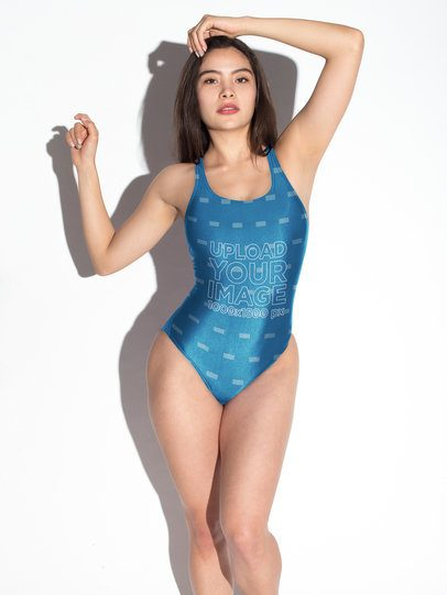 One Piece Swimsuit Mockup a19596