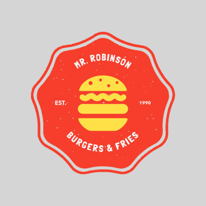 Fast Food Logo Maker with Badge a1013