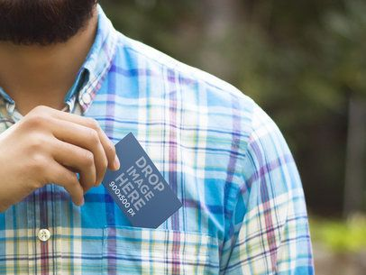 Business Card In A Pocket 8934