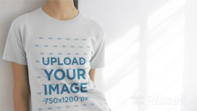 Video of a Hispanic Girl Wearing a Tshirt at a House a13337