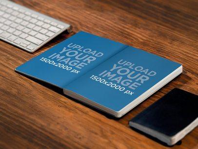 Notebook On Wooden Desk