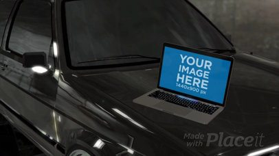 MacBook Pro Video Lying on a Car Hood a16257b