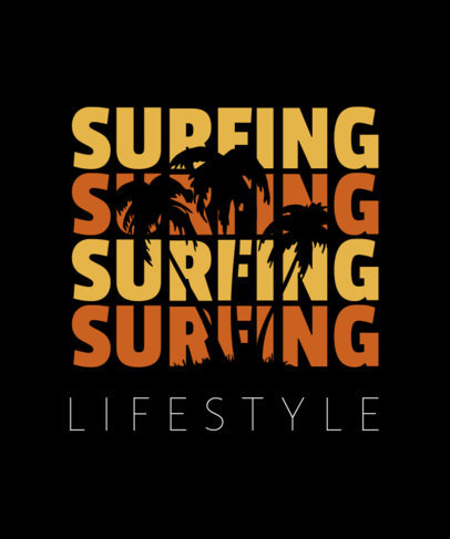 Surf Typography T-Shirt Design Maker a40