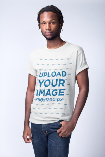 Black Models Wearing T-Shirts