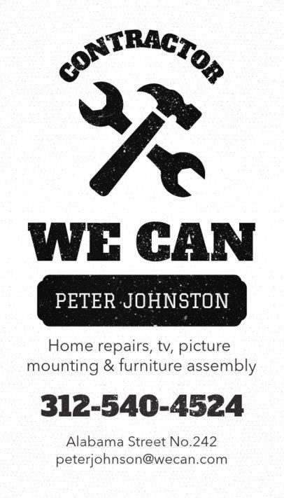 Handyman Business Card Maker a82