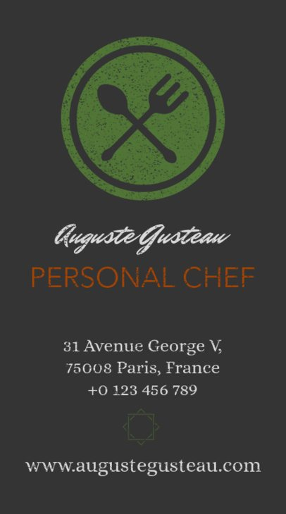 Vertical Catering Business Card Template a73