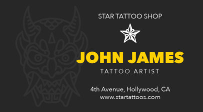 Tattoo Business Card Maker a95