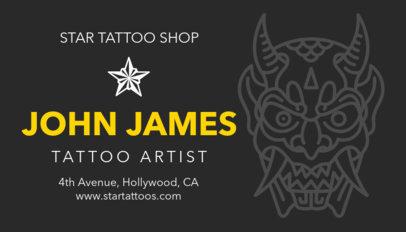 Tattoo Business Card Maker a95